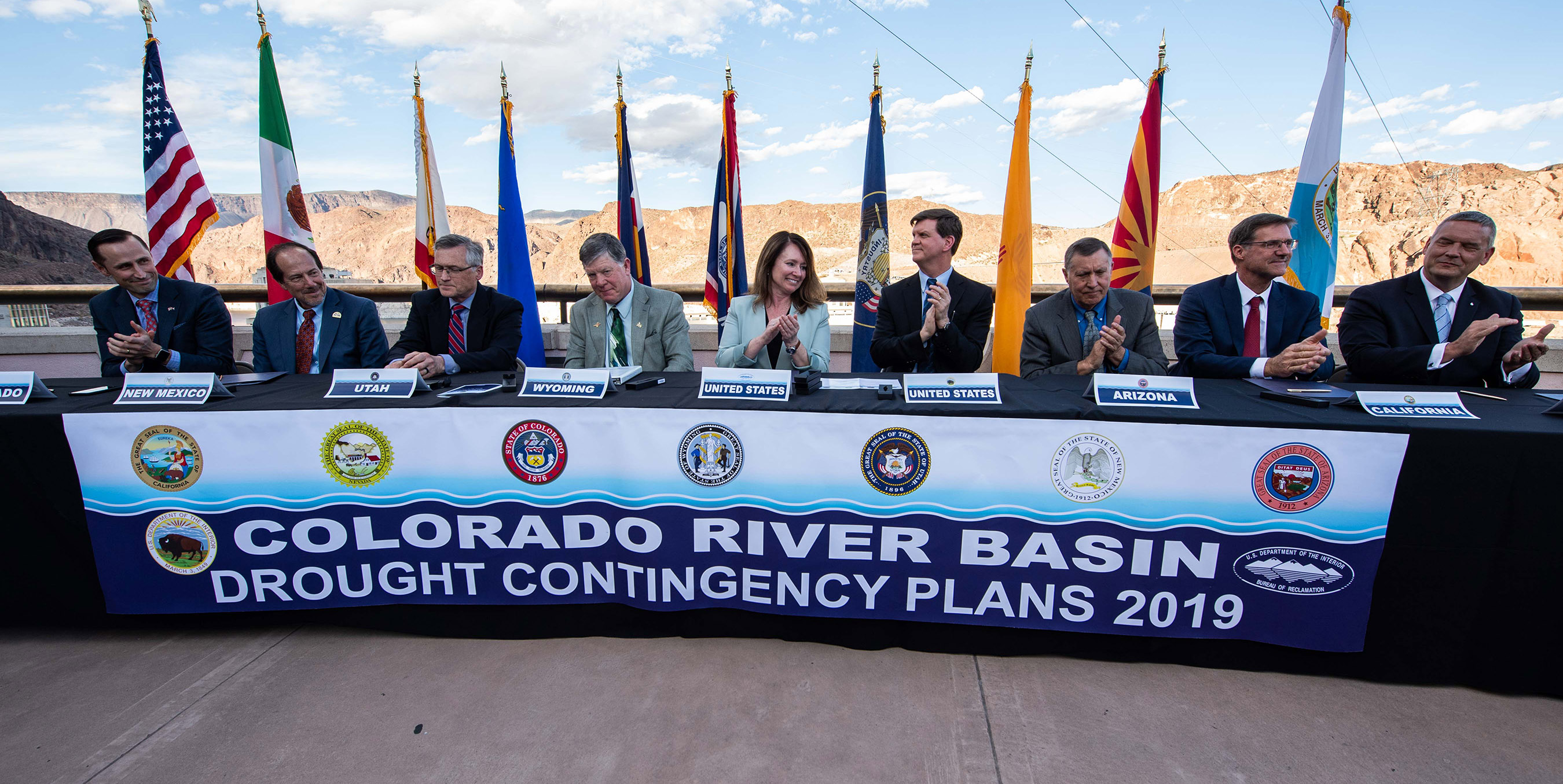 The Department of the Interior, Bureau of Reclamation and representatives from all seven Colorado River Basin states gathered and signed completed drought contingency plans for the Upper and Lower Colorado River basins.