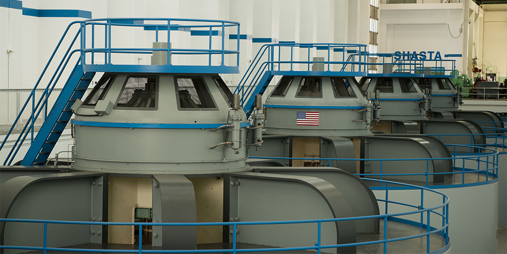 photo of hydropower generators at Hoover Dam.